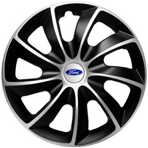 "4x14'' copricerchi si adatta Ford Fiesta KA - 14"" Nero Argento"