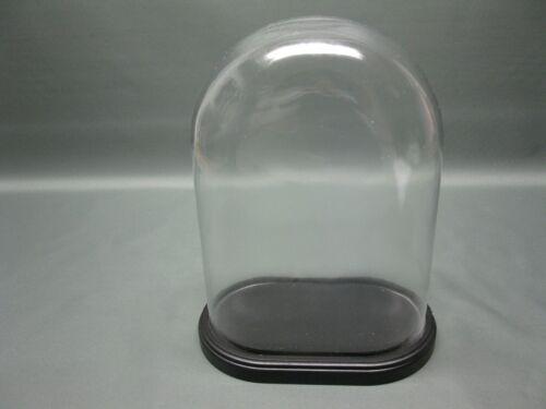 Glasdom Glasglocke Glassturz mit  Sockel  31 cm hoch x 22 cm x 11 cm  Uhrensturz