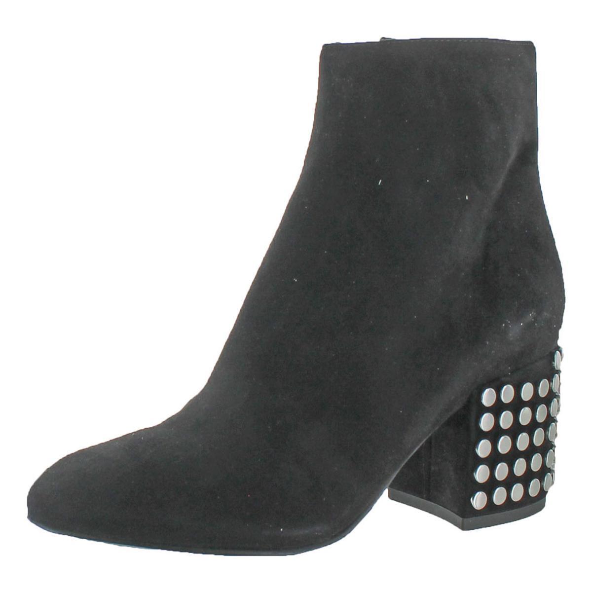 Kendall + Kylie Womens Blythe 3 Black Ankle Boots Shoes 8 Medium (B,M) BHFO 4876