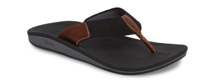 Olukai Nohona Ulana Black Black Comfort Flip Flop Sandal Men's sizes 8-15 NEW
