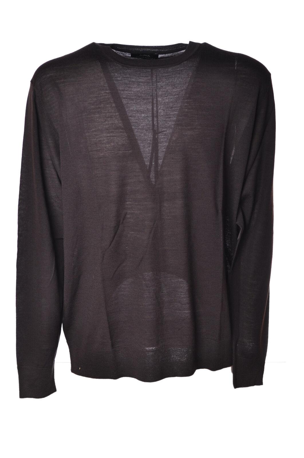 Alpha  -  Sweaters - Male - Grey - 4572522A184007