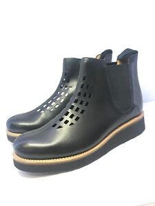 94b3170eabe Details about Grenson Womens Mandy Black Leather Chelsea Boots Size UK 6
