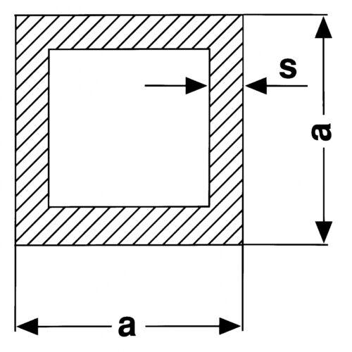 Vierkantrohr Stahl verzinkt bis 2450mm Vierkant Rohr Quadratrohr Rechteck S235