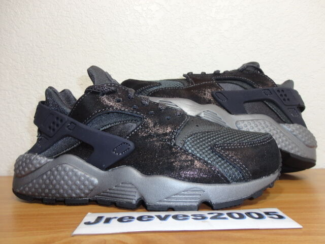 Women's Nike Air Huarache Run PRM ANTHRACITE Sz 6 100% Authentic 683818 004