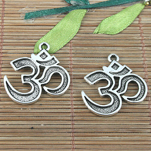8pcs Tibetan Silver Color Symbole Style Charms EF0987