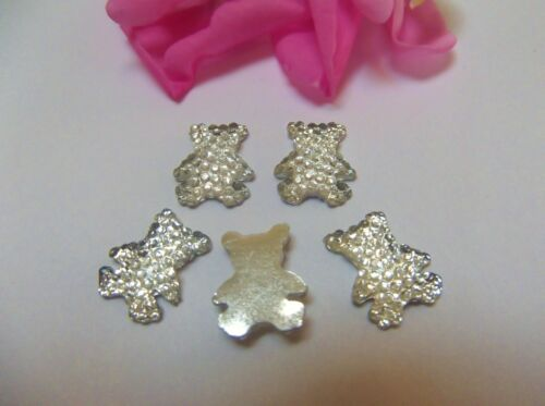 10  13mm  Acrylic Ice Teddies Gems with Mirror Back  Clear
