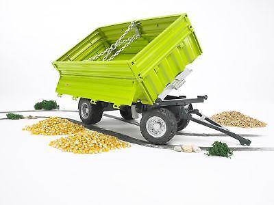 Bruder 02203 3 Seitenkipper Fliegl Anhänger für Traktor und Unimog Kipper Bworld