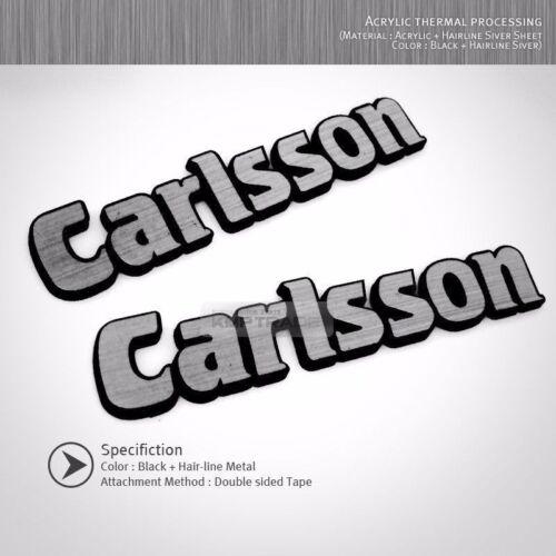 Side Front Trunk Rear Carlsson Hairline Emblem Logo Badge for Mercedes BENZ
