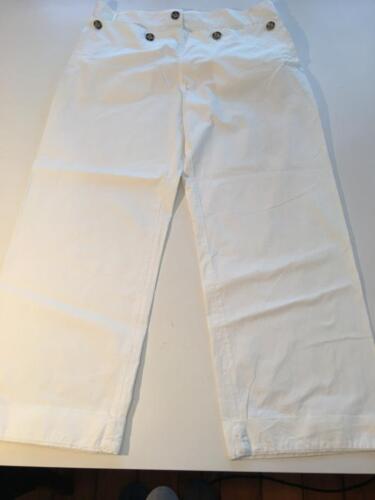 Authentic PRADA White Cotton SAILOR Pants sz 46
