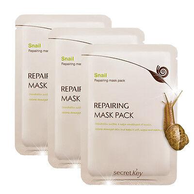 [SECRET KEY] 2015 New Snail Repairing Mask Pack 20g * 3pcs/Korea cosmetic