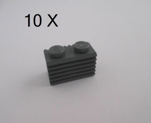 Grill Part No 2877 LEGO® Dark Bluish Gray Brick Modified 1 x 2 with Grille