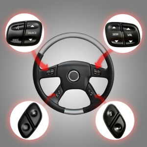 Steering Wheel Radio Volume Control Switch Button Set For