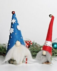 Christmas Gnomes Images.Details About Nordic Scandinavian Christmas Gnomes Set Of 2