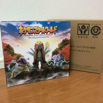 Bandai Pokemon Scale World raikou Entei Suicune Figure Pokemon center Limited