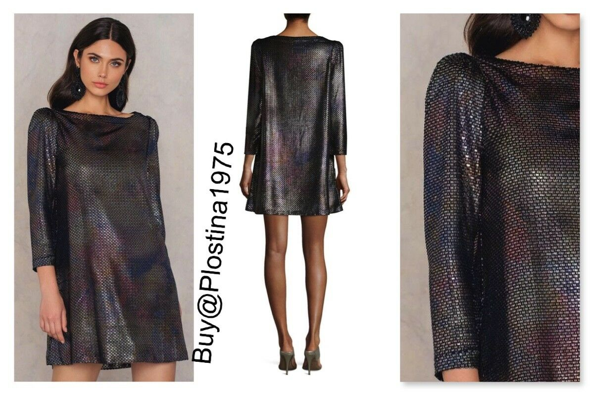 NEW  Free People  Metallic Diamonds Are Forever Shift Dress [Size  M]  B203