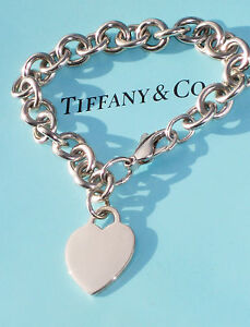 Image Is Loading Tiffany Amp Co Plain Heart Tag Charm Sterling