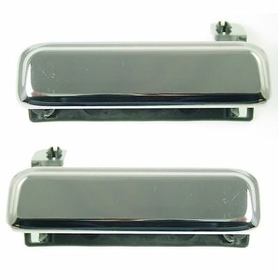 Pair Metal Chrome Outside Door Handle NEW Fits 79-93 Ford Mustang