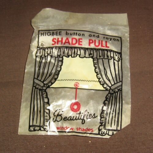 Beautifies Window Shades,NOS Vintage Higbee Window Button and Rayon Shade Pull