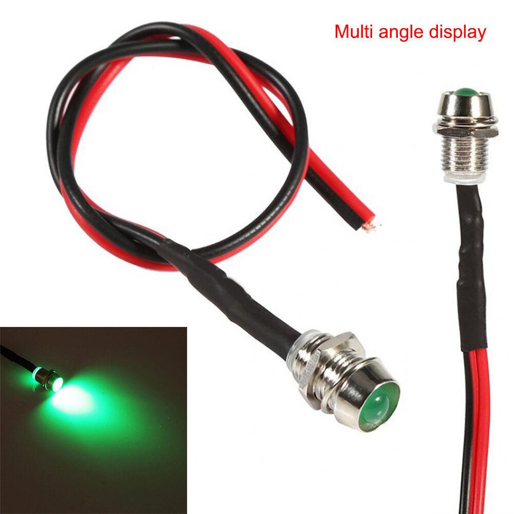 10PCS LED Indicator Light 12V Lamp Bulb Pilot Dash Directional Panel Car Truck