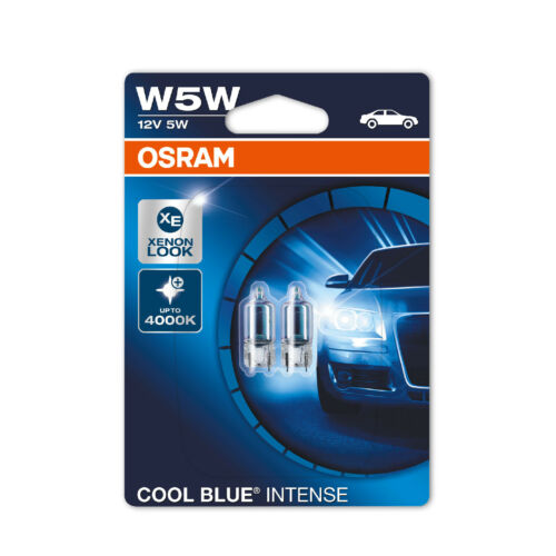 2x Fiat Stilo 192 Genuine Osram Cool Blue Intense Number Plate Lamp Light Bulbs