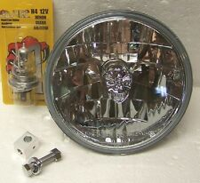 NEW ADJURE T70100SR MOTORCYCLE 7 INCH SKULL HEADLIGHTS HEADLAMPS HARLEY DAVIDSON