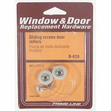 Prime-Line B 691 Screen Door Roller Assembly with Thin 1-Inch Nylon Ball of 2