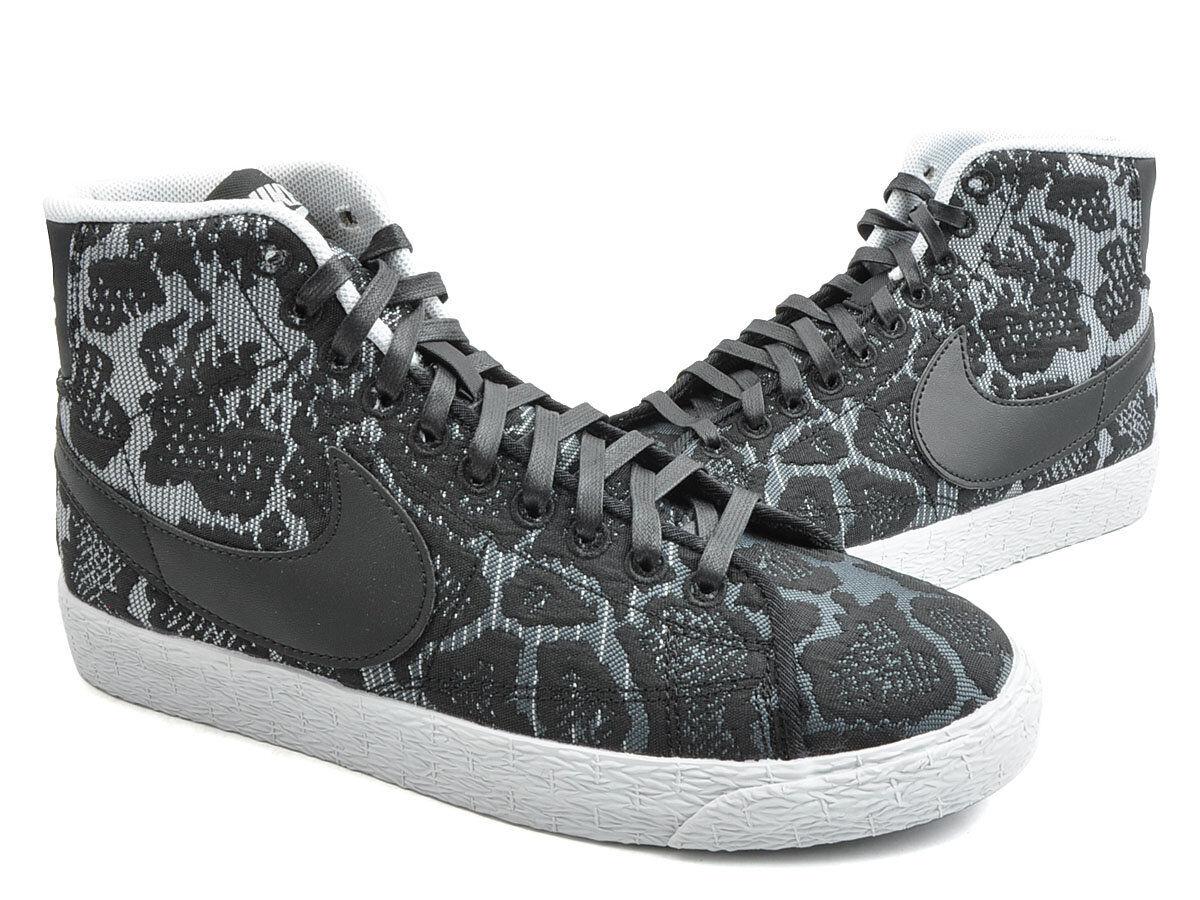 Nike Blazer Mid JCRD QS PRM Pure Platinum Noir Dark Gris 749522 001 femmes New