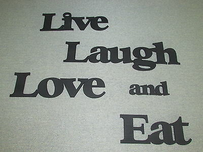 Large Wooden Wall Words Live Laugh Love