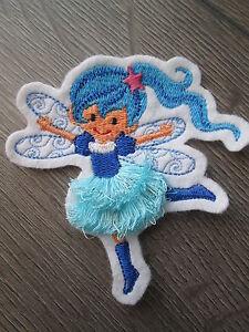 Fee 5 Fairy # Bügel Applikation Flicken Patch Aufbügler Aufnäher Engel