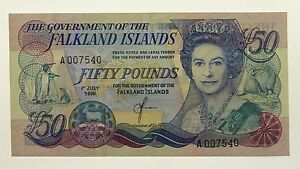Falkland-Islands-1990-Fifty-Pounds-Banknote-in-About-Uncirculated-Condition