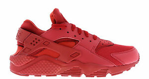 Nike Air Huarache Varsity Red Triple Red Men s Trainers All Sizes ... 82b68bc21841