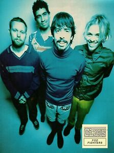 FOO-FIGHTERS-MAGAZINE-PINUP-vtg-90s-Young-Dave-Grohl-Pat-Smear-Taylor-Hawkins