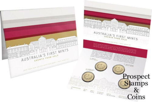 Four Coin $1-Mintmark and Privy Mark Australian UNC Set First Mints 2016 Aust