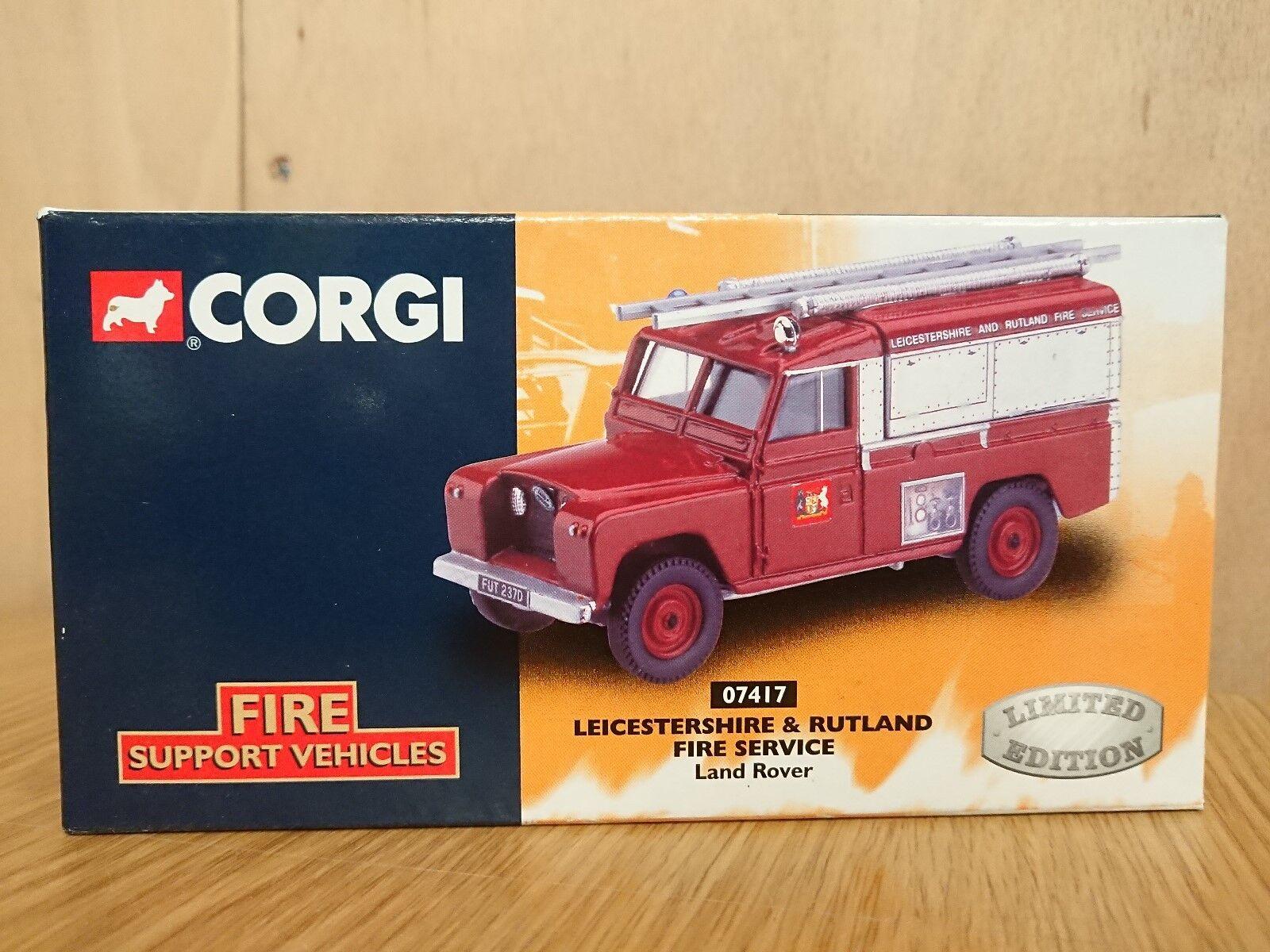 CORGI 07417 Leicestershire DEI VIGILI DEL FUOCO LAND ROVER Ltd Ed. N. 0002 del 5000