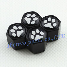Black Chrome Styling Car Metal Wheel Tyre Tire Stem Air Valve Cap For Footprint