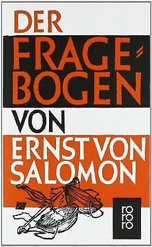 Der Fragebogen von Salomon, Ernst von | Buch | Zustand gut