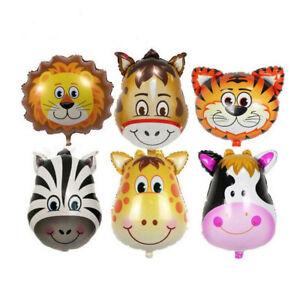 6-Pezzi-Animale-Zoo-Foil-Balloon-Bambini-Giocattolo-Festa-di-Compleanno-Baby-Shower-decorazione-L