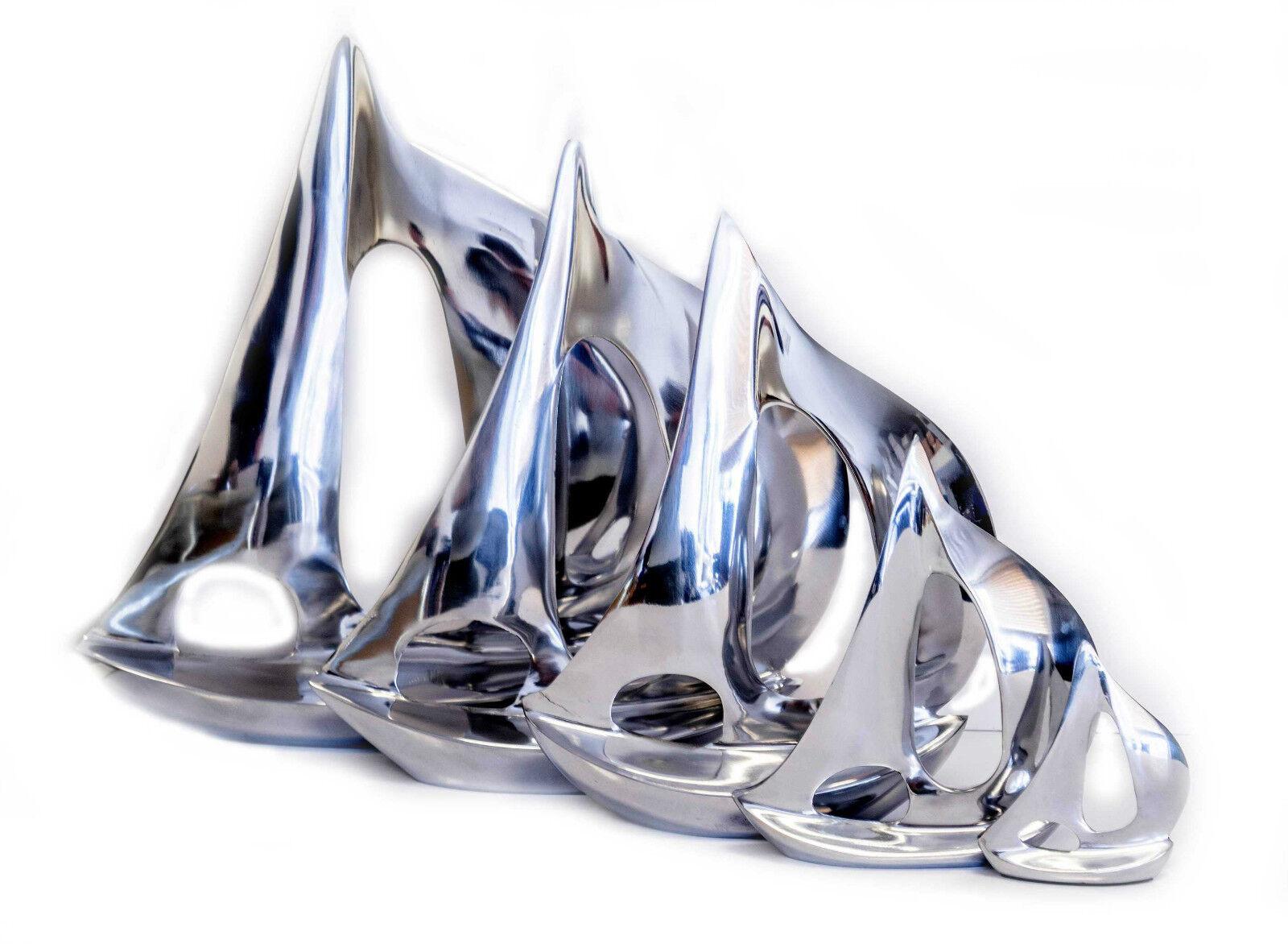 Personalised Aluminium Boat Yacht Sailing Award Trophy, Two Sizes, Engraved.