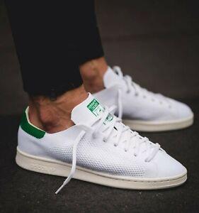 Adidas Originals STAN SMITH PRIMEKNIT MEN SHOES White Green (See ...