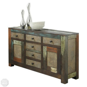 sideboard goa 3501 von wolf m bel kommode massivholz mango vintage used look ebay. Black Bedroom Furniture Sets. Home Design Ideas