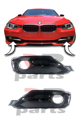 BMW 3 SERIES F30 F31 11-15 SPORT LINE FRONT BUMPER FOG LIGHT GRILLE TRIM PAIR