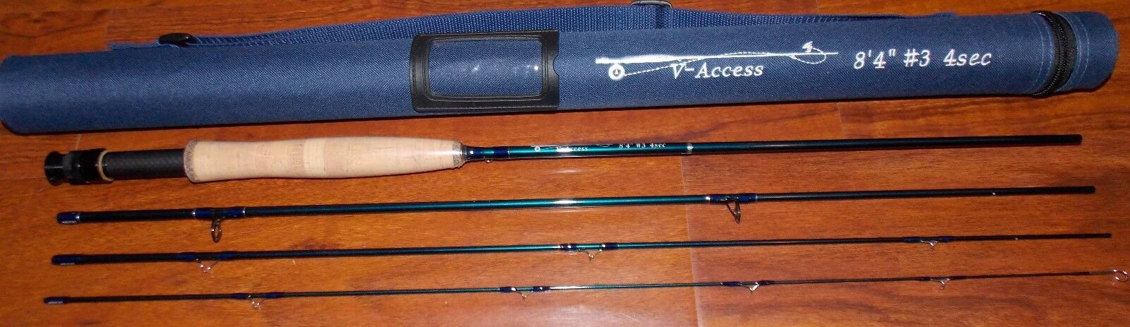 3WT V-Access  Fly Fishing Rod  8  4 Foot  4 Sec. with Tube  FREE 3 DAY SHIPPING
