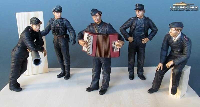 5 5 5 Prêt Peinte Figurines 1:16 AlleFemmed Équipage Du Char Réservoir NorFemmedie 1944 4088c0