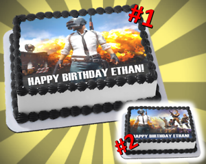 Incredible Pubg Edible Cake Topper Videogame Birthday Party Frosting Sheet Ebay Birthday Cards Printable Trancafe Filternl