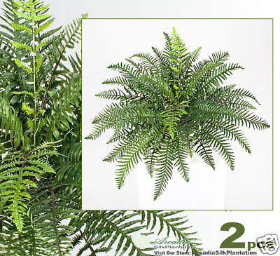 """TWO 26/"""" River Fern Hanging Atificial Silk Plants 180"""