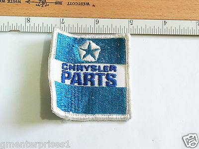 Chrysler Parts Aufnäher Vintage (d Bin) Fine Quality