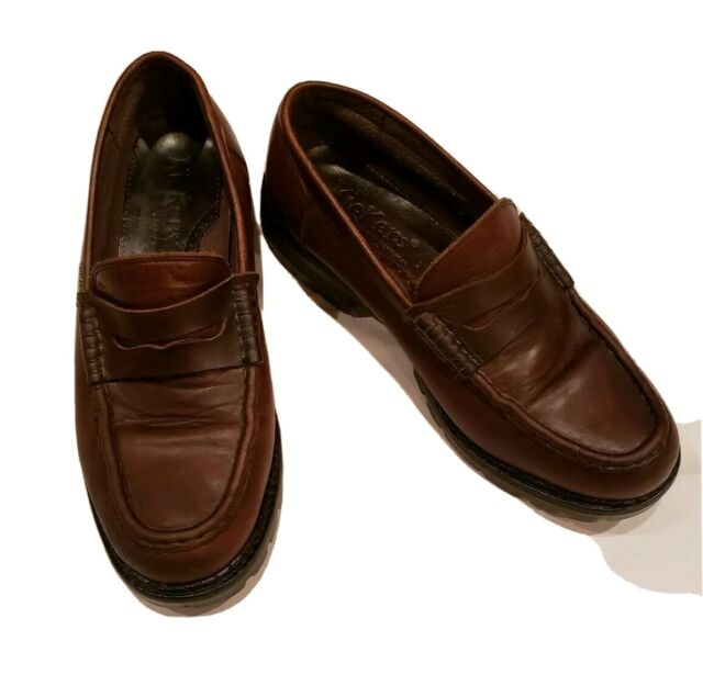 KICKERS UNION MEN'S Shoes Size US 11.5 EU 45 Soft Leather Loafers Brown Portugal