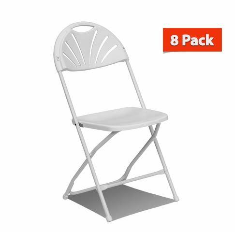 White Plastic Folding Chairs.8 Commercial Plastic Folding Chairs White Fan Back Seat Party Wedding Chair
