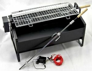 electric rotating barbecue bbq rotisserie charcoal grill. Black Bedroom Furniture Sets. Home Design Ideas
