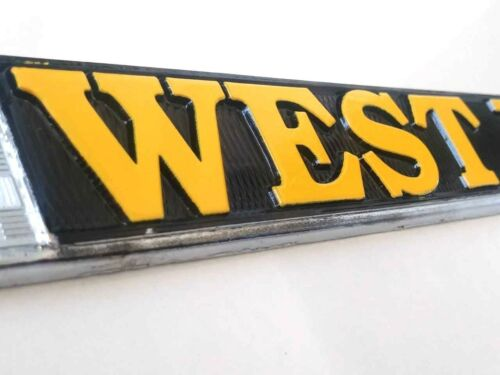 Army West Point in Gold on Black Raised Letters Chrome License Plate Frame U.S